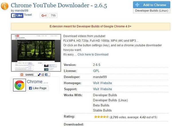 google chrome download video extension