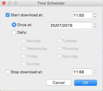 Set Time Scheduler for Mac