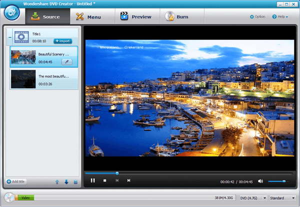 Import MPEG Videos