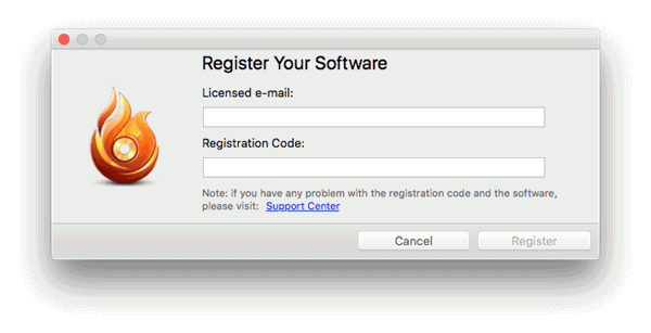 Register with Your License Code