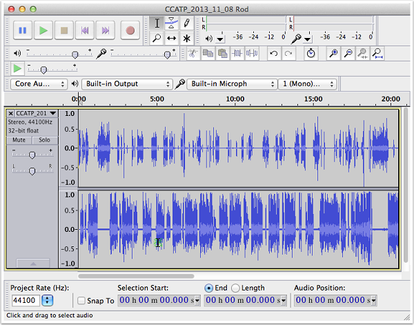 Find Background Noise with Audacity