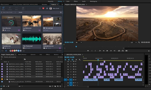 Main Interface Of Adobe Premiere