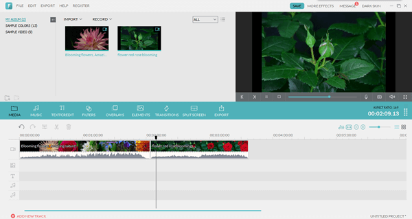 Main Interface of Video Editor