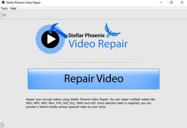 Launch Stellar Video Repair